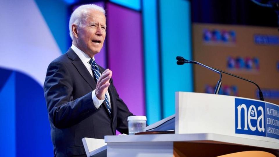 Biden to teachers: 'You deserve a raise, not just praise'