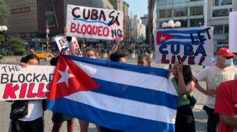 Young Communists in NYC organize protest in support of Cuba