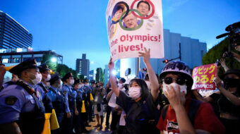 Cardboard cut-outs of fans dampens the spirits at Olympics opening