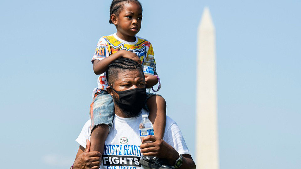 Masses march on D.C. for voting rights