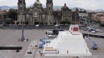 Abierta al público maqueta gigante en Zócalo capitalino de México