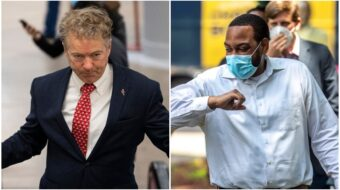 Rand Paul and challenger Charles Booker practice what they preach on COVID