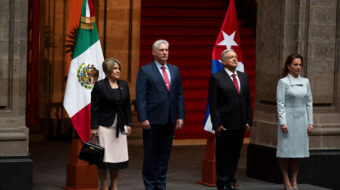 Meeting of Cuban and Mexican presidents displays solidarity