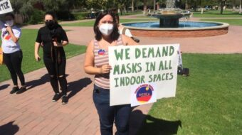 Tucson campus workers join health and safety 'funeral' protest action