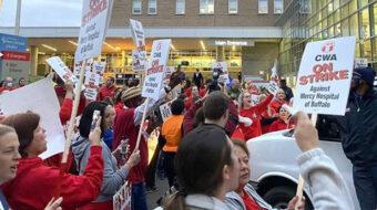 Buffalo hospital nurses hang tough as forced strike nears three weeks