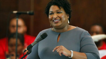 Shuler, Abrams link worker rights to voting rights as showdown nears